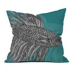 Beta Fish Pillow by Valentina Ramos