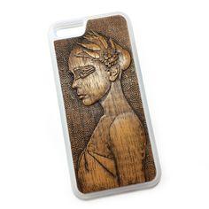 Чехол для iPhone 6 из дерева кусия, ручная работа