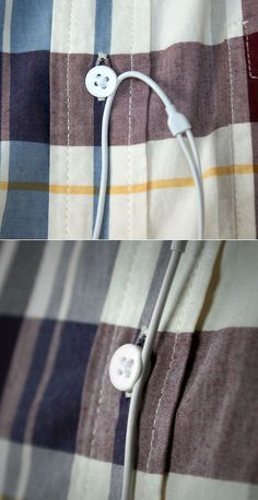 Clever cable management via 3d-printed shirt button // sadly ended by a patent squatter