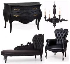 Black Blue And Green Recolours Of The Teen Style Stuff Goth Prepossessing Gothic Bedroom Furniture Inspiration Design