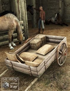 Wagon Trail 2 converted and updated to Iray. Wagon Trail 2 for Iray contains both Poser files and DAZ Studio .DUF files.