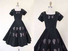 Hey, I found this really awesome Etsy listing at https://www.etsy.com/listing/162544975/1950s-dress-vintage-50s-dress-black-silk