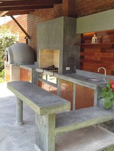 """Acquire terrific ideas on """"outdoor kitchen countertops grill area"""". They are actually offered for you on our web site. Outdoor Kitchen Sink, Outdoor Kitchen Countertops, Outdoor Kitchen Design, Outdoor Kitchens, Outdoor Rooms, Outdoor Living, Outdoor Decor, Rustic Outdoor, Parrilla Exterior"""