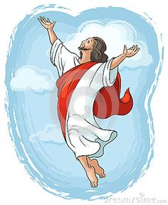 Jesus Ascension Into Heaven Coloring Pages