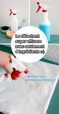 Voici la recette qui ne contient que 4 ingrédients. J'espère que vous l'aimerez autant que moi :-) Découvrez l'astuce ici : http://www.comment-economiser.fr/puissant-et-efficace-le-detachant-maison-avec-4-ingredients.html?utm_content=buffer980d2&utm_medium=social&utm_source=pinterest.com&utm_campaign=buffer