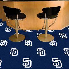 "MLB - San Diego Padres 18""x18"" Carpet Tiles"