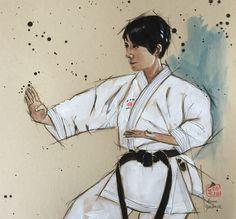 Shotokan Karate Kata, Illustration Art, Illustrations, Portraits, Expositions, Dojo, Art World, Martial Arts, Inspire