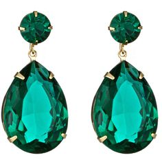 Roberta Chiarella Roberta Chiarella Green Crystal Teardrop Earrings ($68) ❤ liked on Polyvore featuring jewelry, earrings, accessories, brincos, nakit, green dangle earrings, teardrop shaped earrings, tear drop earrings, post earrings and crystal jewelry