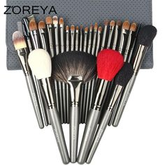 ZOREYA 26 piece Professional Make Up Brush Set with Cosmetic Bag