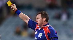 Nigel Owens - another great rugby ref. Yes, he can be very particular but he is fair and unbiased! And given how much running he does every match - I'm ok calling him an athlete! Rugby, Baseball Cards, Running, My Favorite Things, Sports, Athletes, Racing, Keep Running, Sport