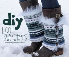 Keep your boots happy and warm this winter and make them some Boot Sweaters!!