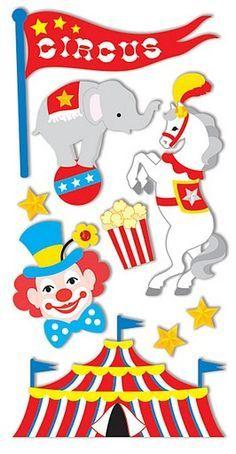 Pegatinas de circo para imprimir-Imagenes y dibujos para imprimir Clown Party, Circus Carnival Party, Carnival Birthday Parties, Carnival Themes, Circus Birthday, Party Themes, Clown Crafts, Circus Crafts, Playroom Signs