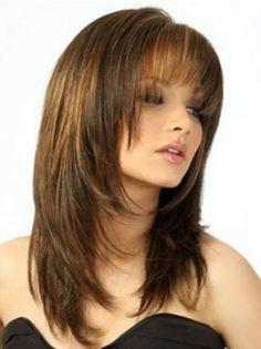 Medium Brown Straight Human Hair Wigs, 100 Human Hair Wigs for Black Women, Remy Hair Wigs Cheap