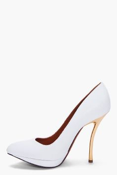 Lanvin:  The Heel is Perfect!  http://www.ssense.com/women/product/lanvin/white_escarpin_pumps/52033