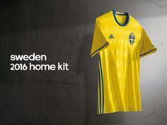 Sweden Euro 2016 Kit Sweden Football, Football Kits, Euro, Polo Ralph Lauren, Mens Tops, Soccer Kits, Soccer Equipment