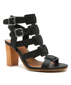 Take a look at this Qupid Black Lucite Sandal today!