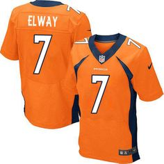 Nike Elite John Elway Orange Men's Jersey - Denver Broncos #7 NFL Home