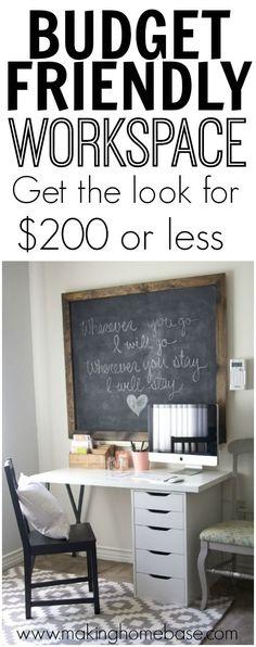 Ikea Desk My Budget Friendly Workspace for Less than 200 dollars @Chelsea @makinghomebase