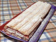 Kardinálovy řezy Sweet Recipes, Bread, Cooking, Cake, Food, Coffee, Sweet Desserts, Kitchen, Kaffee