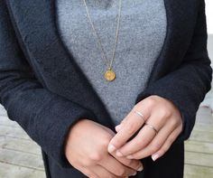 Styling by sofiemwe showing Wild Pendant Gold, Anchor Chain Fine 14K Gold 80cm and Delight diadem Zirconia Ring Silver #jewellery #Jewelry #bangles #amulet #dogtag #medallion #choker #charms #Pendant #Earring #EarringBackPeace #EarJacket #EarSticks #Necklace #Earcuff #Bracelet #Minimal #minimalistic #ContemporaryJewellery #zirkonia #Gemstone #JewelleryStone #JewelleryDesign #CreativeJewellery #OxidizedJewellery #gold #silver #rosegold #hoops #armcuff #jewls #jewelleryInspiration…
