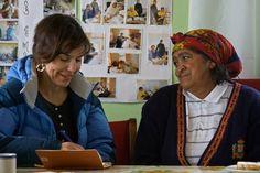 FACEBOOK 17 Aug. Boitumelo Sewing Project. The sixth day, Tessa Kruger asking questions at Kranshoek. Site_Specific #LandArtBiennale. #LandArt