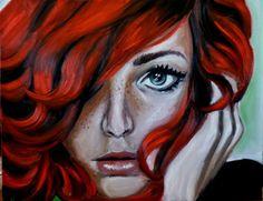 "Saatchi Online Artist: Maria Folger; Oil 2013 Painting ""Fire"""