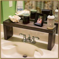 Rustic Wood Shelf, Bathroom Sink Shelf, Moden Farmhouse bathroom Decor, Plant S. Sink Shelf, Bathroom Shelves, Bathroom Storage, Bathroom Organization, Bathroom Cabinets, Organization Ideas, Bathroom Hardware, Restroom Cabinets, Countertop Organization