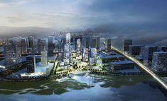 Loos van Vliet - Yongjia World Trade Centre in Wenzhou Trade Centre, World Trade Center, New York Skyline, Van, Future, Travel, Image, Future Tense, Viajes
