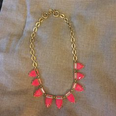 Pink Eye Candy Necklace Adjustable antique gold chain with hot pink jewels Stella & Dot Jewelry Necklaces