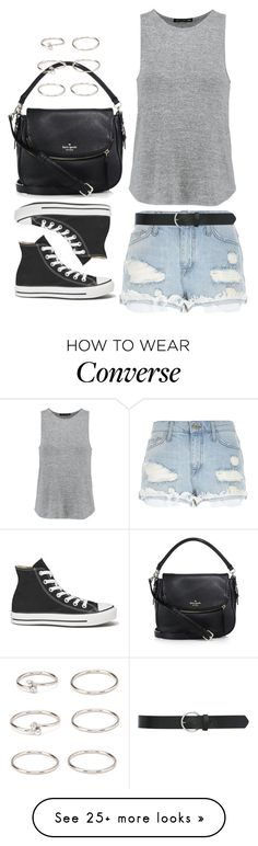 """Casual is the way."" by kaylan-jayne on Polyvore featuring River Island, rag & bone, M&Co, Kate Spade, Converse and Forever 21"