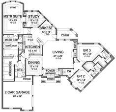 Floor Plan 2500 sq ft Home Interior Pinterest House