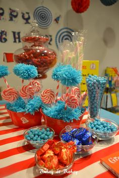 Dr. Seuss Birthday party-Over the Top! Ideas for decorating for Dr. Seuss' Birthday and activities for kids.