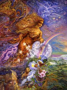art by josephine wall images | Call of the Sea - Birthday Greeting Card : Josephine Wall Art