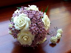 alternative bouquet wedding bouquet bouquet by ClayWeddingBouquet, $150.00 these are polymer flowers!! how cool!!!