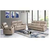 Strafford Top Grain Leather Reclining 3 Piece Set Living Room Leather Leather Living Room Set Living Room Sets