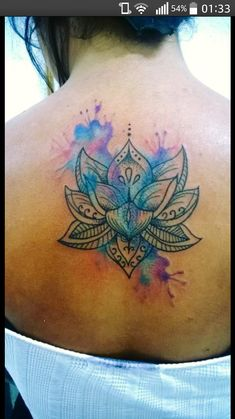#watercolor #tattoo #lotus