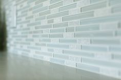 mint and sea foam green glass matchstick tile back splash claridge homes design centre - Matchstick Tile Home Design