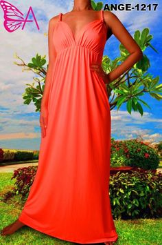 $45.00--Solid Tangerine Maxi Dress. Spring is here! Hurry and Pre-Order yours today! Click here: http://thefirstladyboutique.net/item_475/1217-Solid-Tangerine-Maxi-Dress.htm
