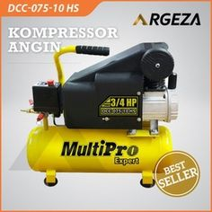 KOMPRESSOR ANGIN TYPE DCC-075-10 HS.. Spesifikasi Mesin: Kapasitas  1 HP  Daya Listrik (Watt)  750  Tegangan (Volt)  220  Kecepatan (rpm)  2850  Diameter Silinder (mm)  42  Kapasitas Tangki (L)  25  Kapasitas Udara (L/mnt)  126  Tekanan Udara Max(bar)  8  Dimensi (mm)  600x350x600  Berat (kg)  25  Pemesanan: Segera Hub 0816915918 (wa)