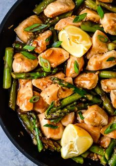 Easy Low Carb Meals Asparagus Stir Fry, Chicken Asparagus, Asparagus Recipe, Stir Fry Recipes, Cooking Recipes, Healthy Recipes, Lean Recipes, Indian Food Recipes, Low Carb Recipes
