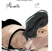 Love Yourself First // Ilustración // Amarillo Dalí