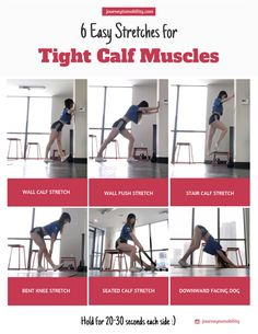 Regularly stretching out your calf muscles will increase your range of motion and decrease injury. Get started with easy calf stretches you can do at home! Calve Stretches, Stretches For Legs, Stretches For Runners, Muscle Stretches, Easy Stretches, Stretching Exercises, Best Calf Stretches, Dynamic Stretching, Stretch Calf Muscles