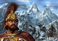 Hannibal Barca - Carthaginian military commander and tactician, generally considered one of the greatest military commanders in history. Famous for taking a large army including a fleet of elephants accross the Alps