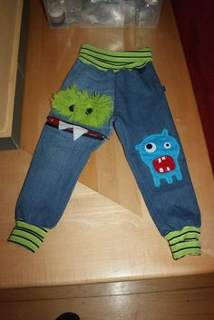 Jeans Monster Hose <3 Mantel, Jeans, Sewing Clothes, Dressing Up, Trousers, Jackets, Kids, Gin, Denim Pants