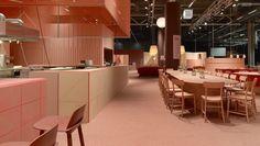 El restaurante de color coral de Note Design Studio en la Stockholm Furniture Fair 2017, en 'boca de todos'.