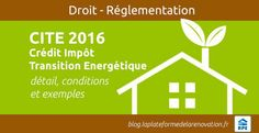 Crédit Impôt Transition Energétique 2016 CITE