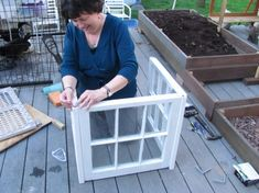 A window greenhouse easy to create and so cute
