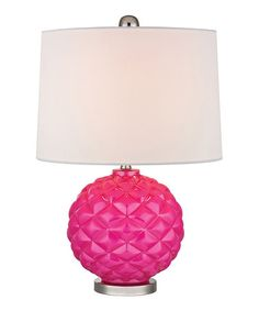 Another great find on #zulily! Hot Pink Glass Accent Lamp #zulilyfinds