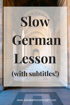 learn German, Deutsch, German lesson, Deutsche Sprache