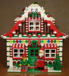 Lego X2 New Christmas Holiday Boy And Girl Elf Mini Figure With Dual Face Lot